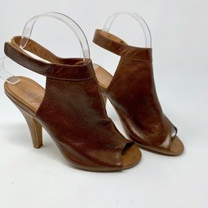 Jeffrey Campbell Norene Brown Leather Bootie